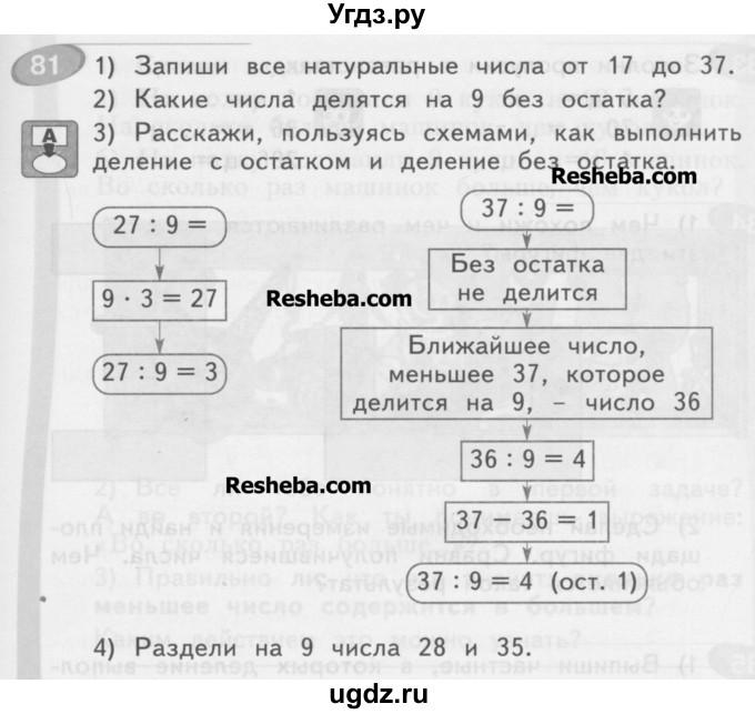 Готовые домашние задания 3 класс математика автор аргинская