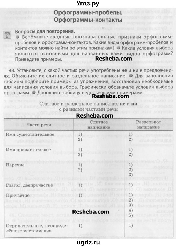Решение по русскому языку 8 класс бунеев