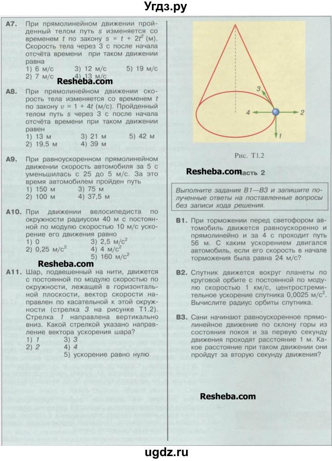 Гдз По Физике 9 Класс Кабардин Учебник Ответы